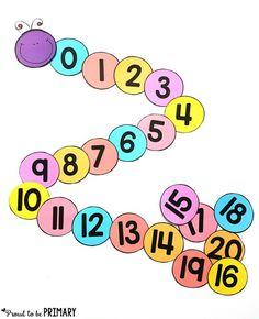 ordering numbers caterpillar  for building number sense to 20