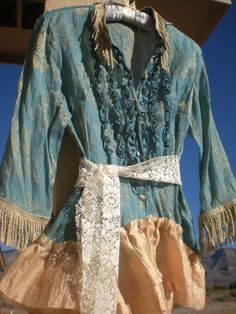 Bohemian Gypsy Blouse  Size Medium  Altered Couture  by Pursuation, $38.00
