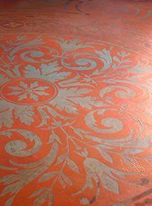 Stenciling Concrete- Modello Stencils Provide Numerous Options for Decorating Concrete Floors - article from The Concrete Network