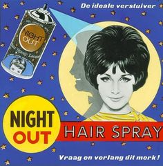 Night Out Hair Spray ad (1950s)