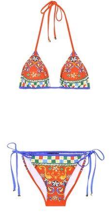 Dolce & Gabbana Printed Triangle Bikini   https://api.shopstyle.com/action/apiVisitRetailer?id=502585587&pid=uid2500-37484350-28