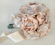 Super spendy, but lovely!  Luly All Blush Silk Flower Bouquet  Made to Order  by EmiciBridal, $1600.00
