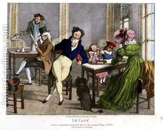 Le Cafe, 1820 by John James Chalon