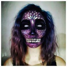 #makeup #makeupartist #sfx #sfxmakeup #sfxmakeupartist #storyteller #artist #creativity #creativemakeup #art #inspiration #inspo #beauty #glam #makeupideas #artoftheday #create #contentcreator #makeupoftheday #specialeffects #skullmakeup #purpleskull #bejewelledskull #halloweenmakeup #halloween Skull Makeup, Mua Makeup, Day Of Dead Makeup, Halloween Make Up, Halloween Face Makeup, Character Makeup, Art Day, Most Beautiful Pictures, App
