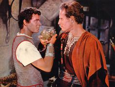Ben-Hur (1959) Stephen Boyd, Charleton Heston. They really need to make a spoof out of this movie!