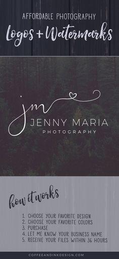 Heart Photo Watermark / Heart Logo Design / Photography Watermark