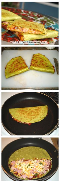 Ham and Cheese Quesadillas Recipe