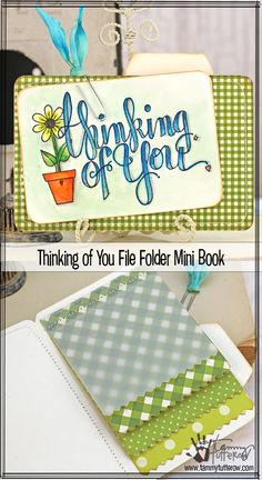 Combine stamps and dies to create this quick and fun interactive mini book.