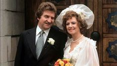 Rita Sullivan's loves; a gallery of her romances on Corrie | Coronation Street - Rita and Len Fairclough in 1977