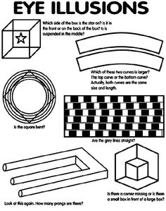 Eye Illusions coloring page