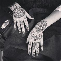 #Glove & mandala set #veronicalilu