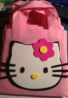 Hello Kitty Goodie Bags by CrochetNFofuchas on Etsy, $21.00