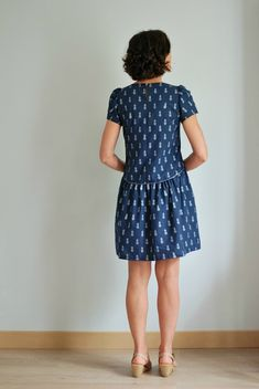 Robe forget-me-not - Slow Sunday Cute Fashion, Diy Fashion, Fashion Dresses, Womens Fashion, Fashion Design, Simple Long Dress, House Dress, Lovely Dresses, Fashion Quotes