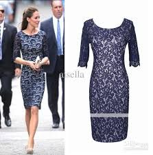 knee-length cocktail dress with 3/4 sleeve for older women - Google Search  love the for older women part...just what I'm looking for