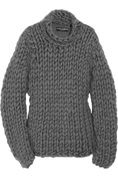 chunky-knit cotton-blend sweater...Dolce & Gabbana