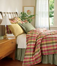 Moire Plaid Duvet Cover  Country Curtains