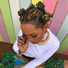 from - my hairstyle 🇺🇬 Bantu Knot Hairstyles, African Hairstyles, Black Girls Hairstyles, Braided Hairstyles, Natural Hairstyles, Hairstyles Pictures, Dreads, Hair Inspo, Hair Inspiration