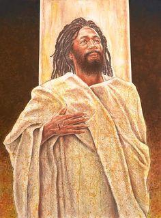 Black Jesus Painting - Talkin' Bout Jesus by Raymond Walker Religious Images, Religious Art, Catholic Art, Black Jesus Pictures, Art Pictures, Blacks In The Bible, Arte Black, Jesus Painting, Prophetic Art