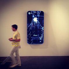 Broken iPhone Art by Doug Aitken