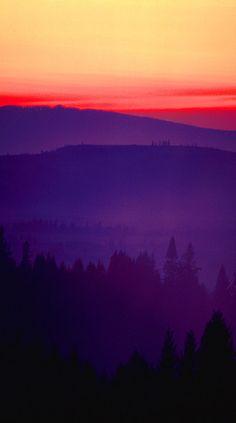 Sunset On The Road to Salem, Oregon