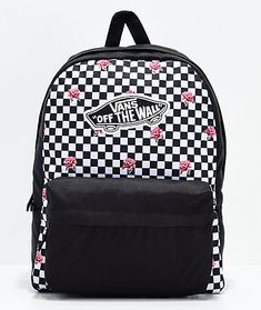 21ff5b3c7e Vans Realm Rose Checkerboard Backpack