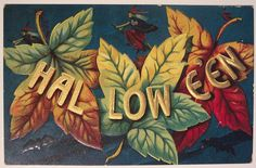 Vintage Halloween postcard (artist Bernhardt Wall). #vintage #Halloween #postcards