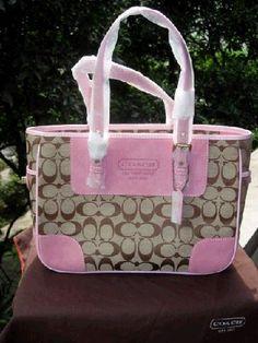 PINK COACH PURSE,wholesale knockoffs designer handbags