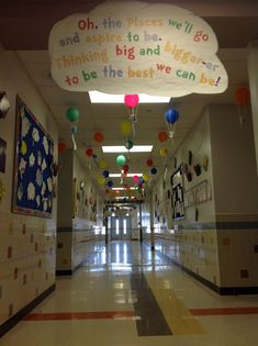 "Dr. Seuss hallway ""oh the places you'll go"""