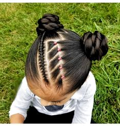 Black Baby Hairstyles, Cute Toddler Hairstyles, Easy Little Girl Hairstyles, Natural Hairstyles For Kids, Kids Braided Hairstyles, Flower Girl Hairstyles, Princess Hairstyles, Competition Hair, Girl Hair Dos