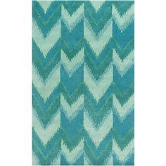 Surya Mount Perry Seafoam & Teal Zigzag Rug ($130) ❤ liked on Polyvore featuring home, rugs, backgrounds, teal blue area rug, teal rugs, chevron pattern rug, textured rug and zig zag rugs