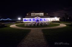 The Island House at night! - Snap! Photography #octoberwedding #newportwedding