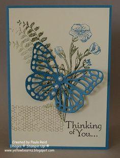 Yellowbear Stampin: Butterfly Basics Sympathy Card