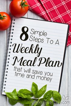 You don't need a lot of time for meal planning. These 8 simple steps will help you implement a simple Weekly Meal Plan that will save you time and money.
