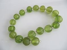 Green Acrylic Beads Frosted Transparent Round by SkylineBeads, $3.95