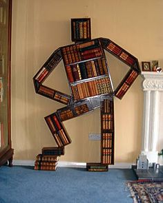 "Store your books in a ""Bookman"" shelf."
