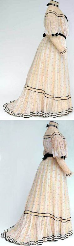 Day dress, ca. 1900-05. Cotton, silk, velvet, machine embroidery. Mode Museum, Antwerp