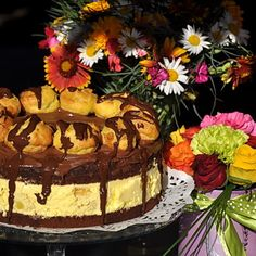 Tort Profiterol Something Sweet, Nutella, Great Recipes, Bacon, Mousse, Food And Drink, Birthday Cake, Ice Cream, Cookies