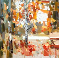 "Josef Kote ""Beyond The Fall"" 48x48 Original Acrylic on Canvas"