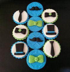 10 toppers de cupcake fondant poco hombre