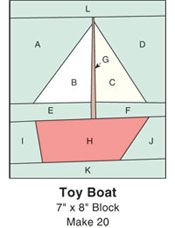 toy boat quilt block