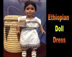 Ethiopia Doll Dress 8 by CCIWorld on Etsy, $15.00   #Ethiopia #doll #adoption #internationaladoption #dollclothes #orphans #ethiopiandresses #Guatemala