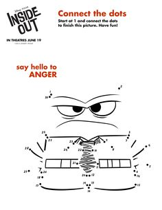 Connect the dots to make #Anger from #InsideOut!