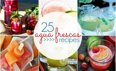 Looking for sweet refreshment this Summer? Check out these 25 Agua Frescas Recipes - Blackberry, Blueberry, Basil and More!