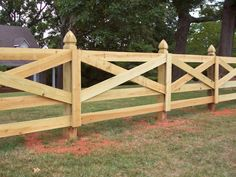 "funny I never thought of myself as having a ""farm"" style, but I keep coming back to this style fence..."
