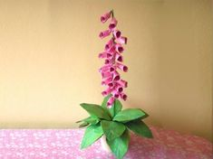 beautiful pink origami foxglove