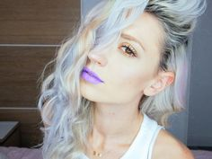 purple lips, purple, makeup, urban dacay, maquillaje con la paleta urban decay