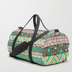 We upped the Duffle Bag game. Your new favorite gym and travel bags feature crisp printed designs on durable poly poplin canvas. Premium details include soft polyester lining with interior zip pocket, an adjustable shoulder strap (with foam pad), carrying handles, double zipper pull tabs for easy open/close, and brushed nickel metal hardware. Availabie in three sizes. Spot clean only.
