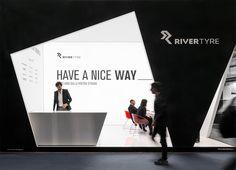 Idem Design progetta e realizza l'allestimento fieristico per l'azienda leader distributrice di pneumatici River Tyre, all'Autopromotec 2015 di Bologna.