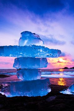Winter sunset - Manitoulin Island, Ontario, Canada  ( by Peter Baumgarten on 500px )