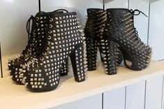 Studded black hight heels #spikes #studs #shoes